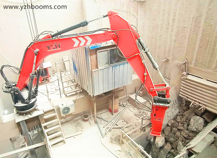 YZH Stationary Type Pedestal Boom System Rock Breaker Was Put Into Use In Tangshan Manwang Mine Energy Company