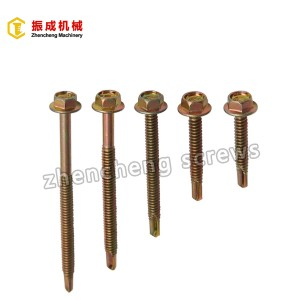 18 Years Factory Hexagonal Screw Plugs - Hex Flange Head Self Tapping And Self Drilling Screw 4 – Zhencheng Machinery