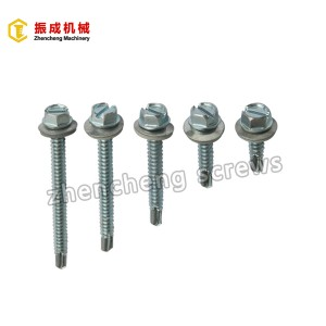 slotted hex head self drilling screw