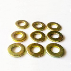 Color-zinc flat washer