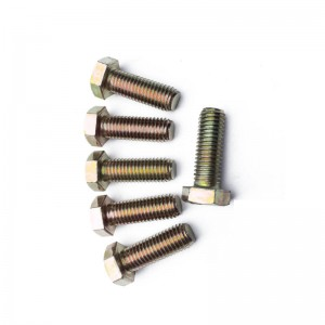 4.8 color-zinc full thread hex bolt