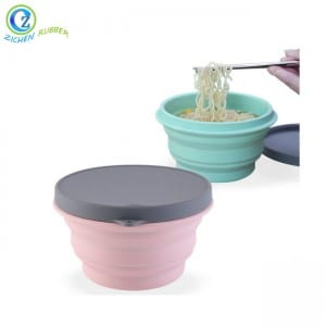 Custom Folding Bowl Best Collapsible Silicone Bowl With Lid