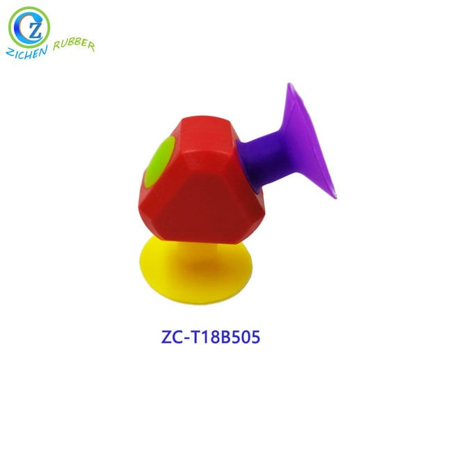 DIY Puzzle Assembled Silicone Brick Sucker Toy High Quality Educational Sucker Toy Silicone Featured Image