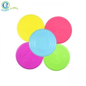 Hot Sale Custom Colorful Popular Silicone Rubber Pet Frisbee for Dog