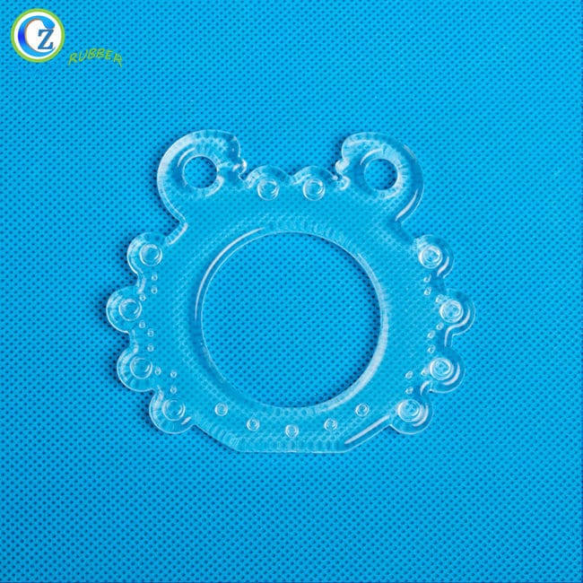 Custom BPA Free Baby Silicone Toys Teething Transparent Silicone Kids Toys Featured Image