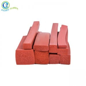 High Quality Extruded Rubber Foam Seal Strip FDA Silicone Strip