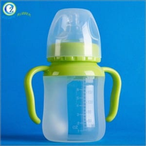 Custom High Quality Silicone Baby Straw Bottle Soft Silicone Baby Bottle