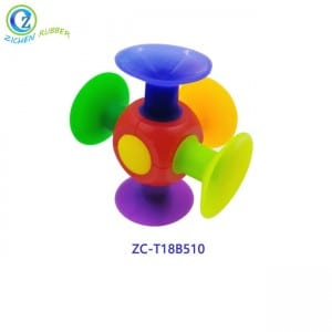 DIY Puzzle Assembled Silicone Brick Sucker Toy High Quality Educational Sucker Toy Silicone