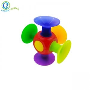 Fat Brain Toys Original Squigz Custom FDA BPA Free Motivating Brain Silicone Rubber Sucker Toy
