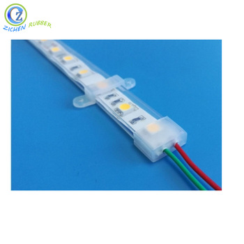 High Quality Transparent Rectangular Silicone Tube for LED Strip Featured Image