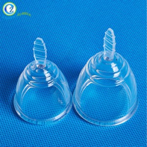 Custom FDA LFGB Approved Hygiene Feminine Menstruation Lady Medical Silicone Collapsible Reusable Clean Menstrual Cup