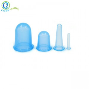 Traditional Silicone Rubber Glass Vacuum Chinese Cupping Massage Set Fantastic Silicone Cupping Cups