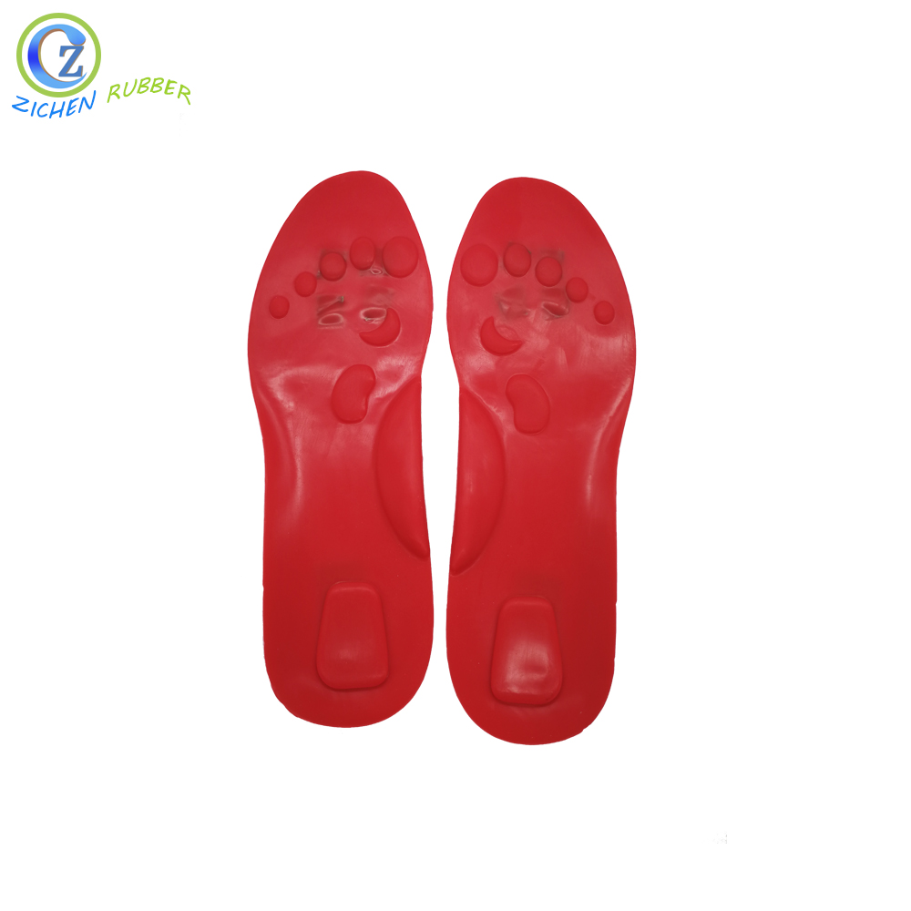 Comfortable Colorful Silicon Rubber Soft Massage Insole for Shock Absorption Featured Image
