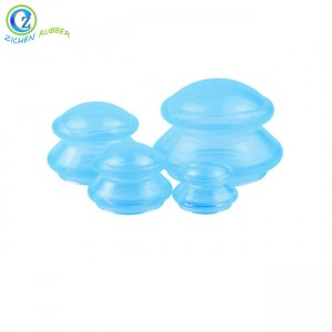 Custom Anti Cellulite Body Massage Cups Silicone Cupping Therapy Set