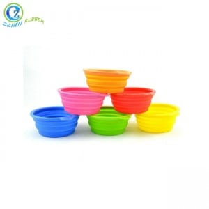 Portable Durable Silicone Foldable Dog Bowl Custom Silicone Pet Bowl