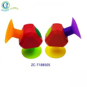 Building Blocks Sucker Suction Fun Cup Silicone DIY Toys Custom Silicone Sucker Suction Toy