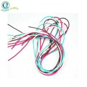 Custom Colored BPA Free FDA Elastic Silicone Rubber Cord
