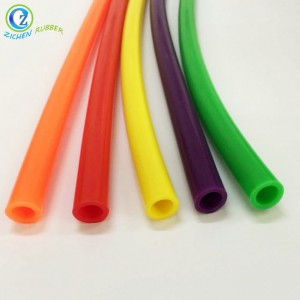 Heat Shrinkable FDA Silicone Solid Soft Foam Rubber Tube Custom Service