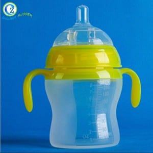 Durable Silicone Baby Milk Bottle Soft Squeeze Silicone Baby Feeding Bottle