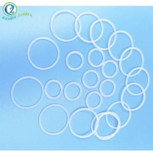 Custom White Rubber O Ring Seal Transparent Various Silicone Rubber O Ring