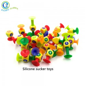 Cool FDA Creative Educational Silicone Rubber Sucker Toy