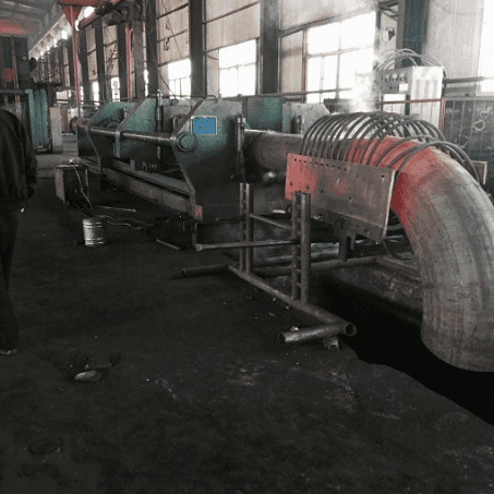 The 325mm induction heating pipe bending unit ordered by  Turkish  customer